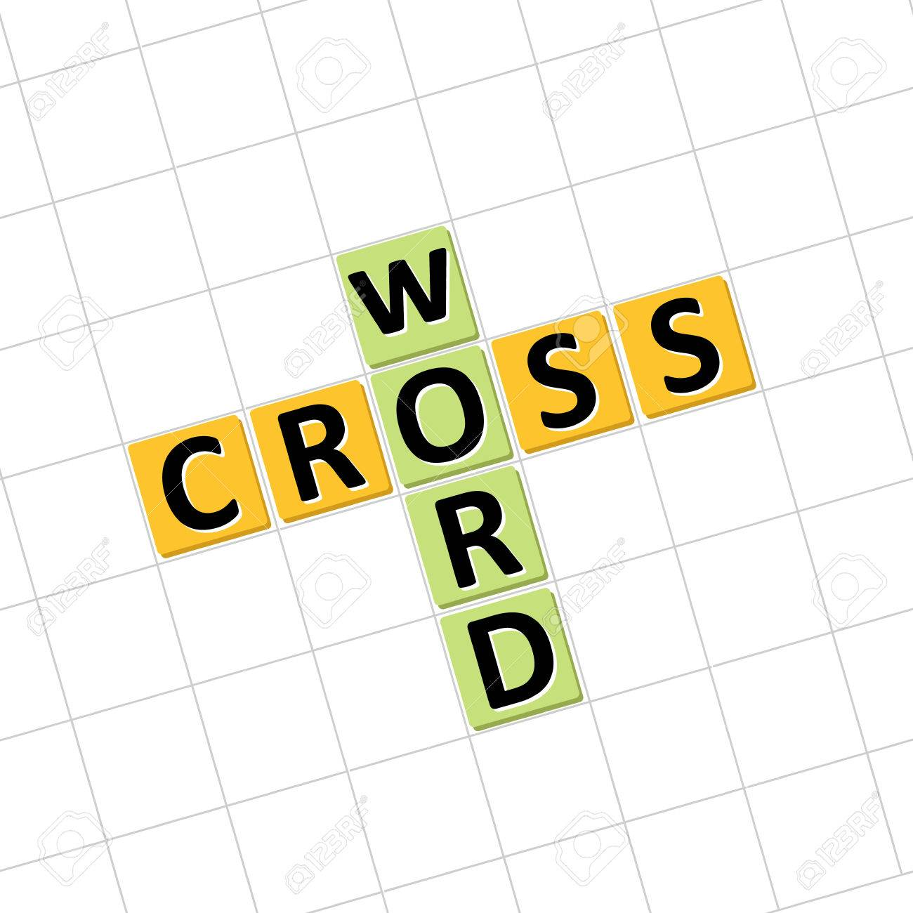 Crossword Icon Vector Illustration To Solve Puzzles Stock