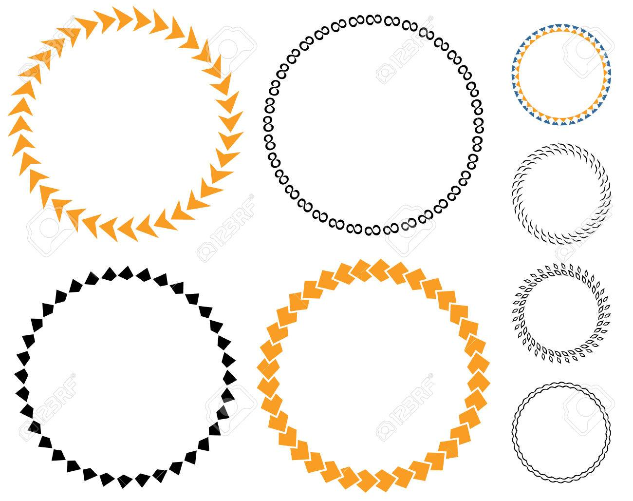 circle template badge round empty medal arrows layout sticker