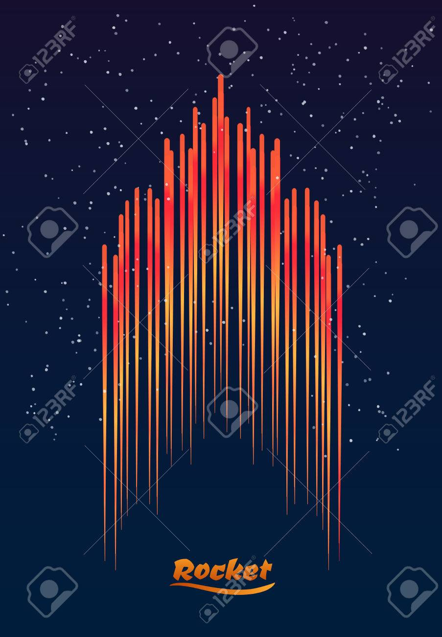 abstract the rocket on background space starry sky blast off royalty free cliparts vectors and stock illustration image 62077858 abstract the rocket on background space starry sky blast off