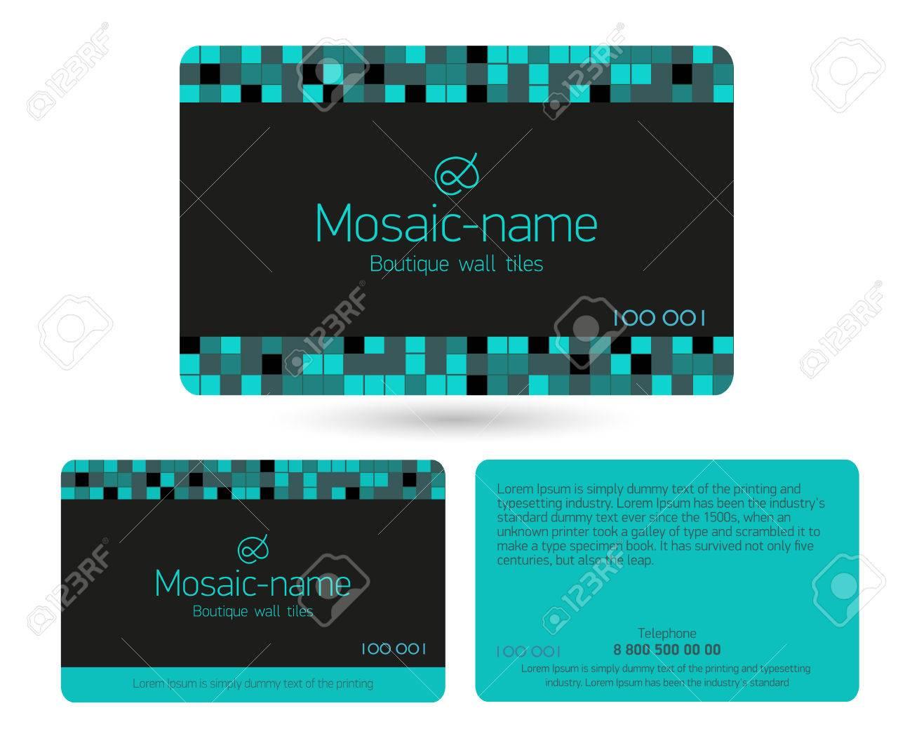 Turquoise Modele De Conception Carte Fidelite Belles Cartes