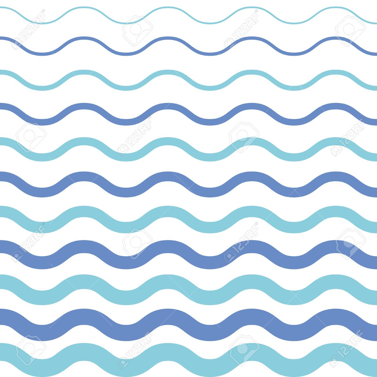 Pattern On White Background Blue Light And Dark Wave Pattern