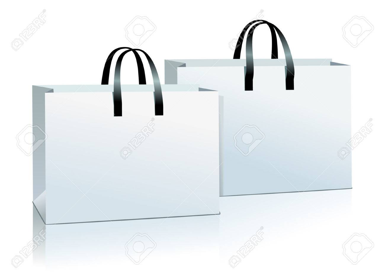 Two Shopping Bag Vector. Royalty Free Cliparts, Vectors, And Stock ...