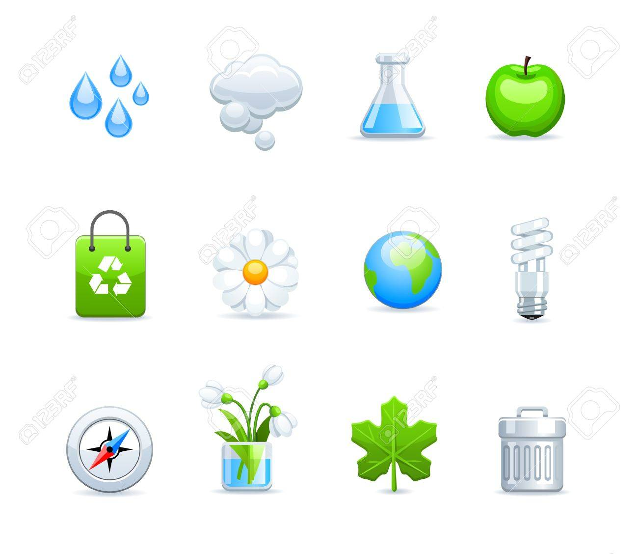 ecology icons Stock Vector - 9535677