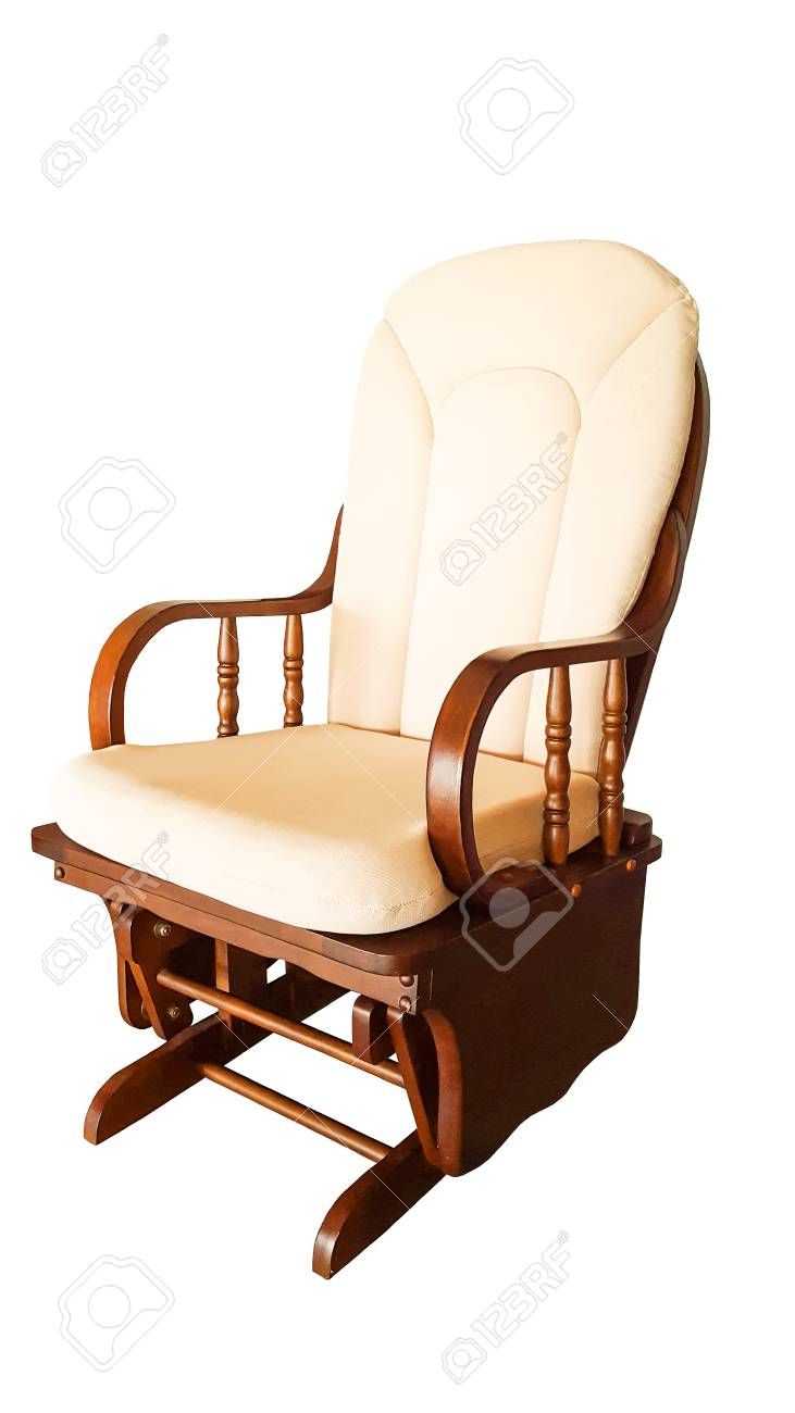 Astounding Modern Rocking Chair Isolated On White Background Bralicious Painted Fabric Chair Ideas Braliciousco