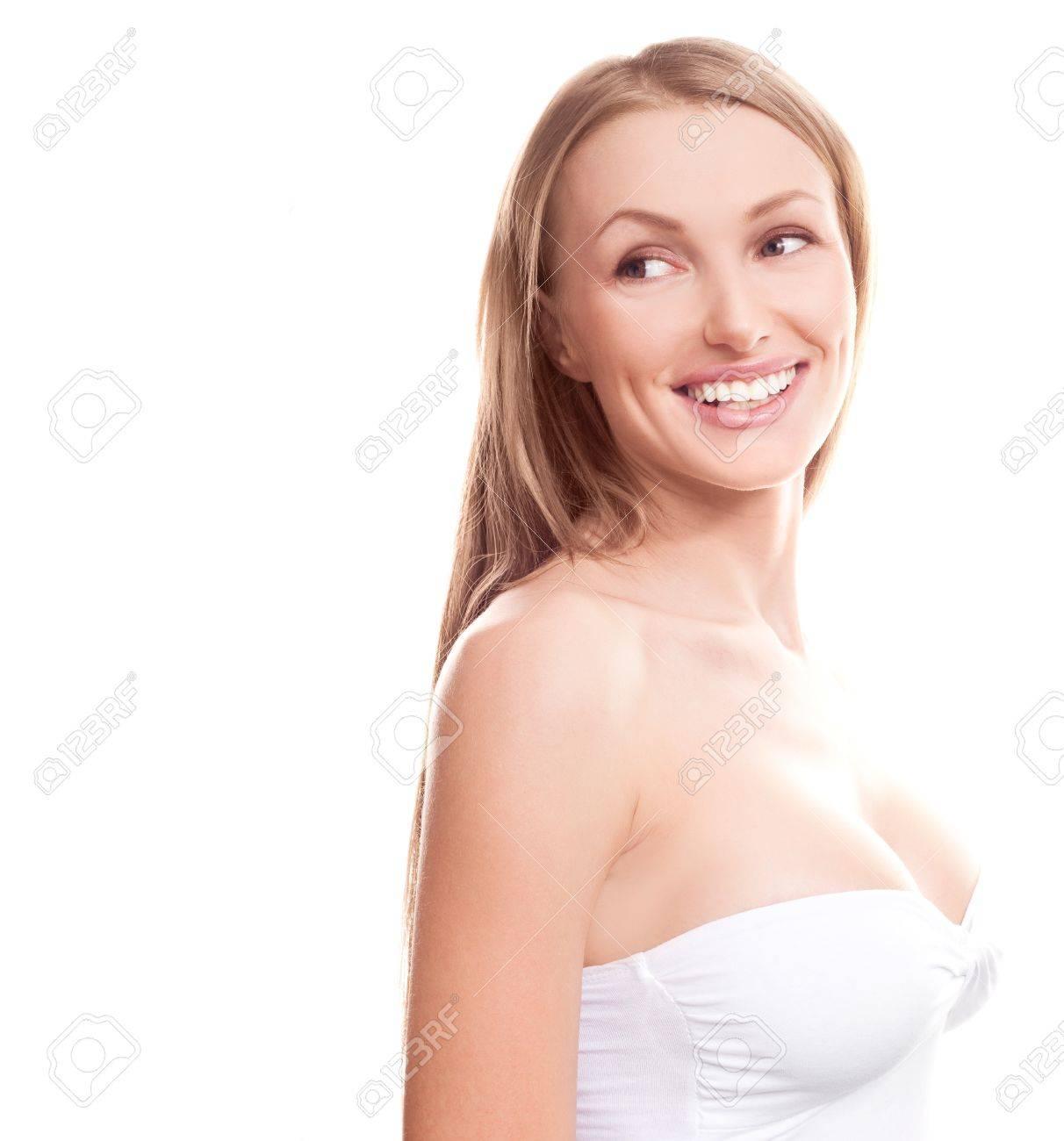 Belle jeune et beaux seins