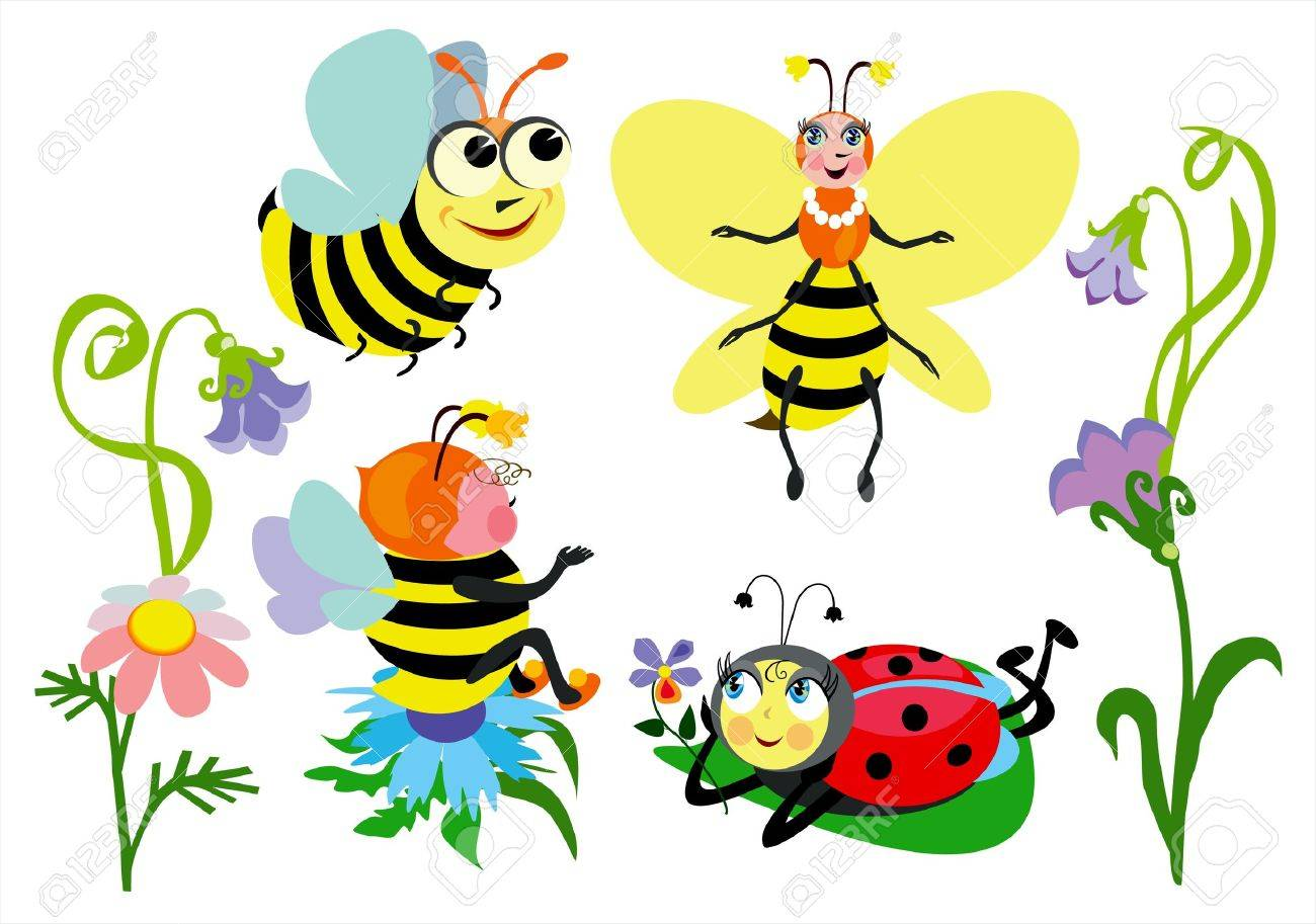 Funny insects Stock Vector - 13176932