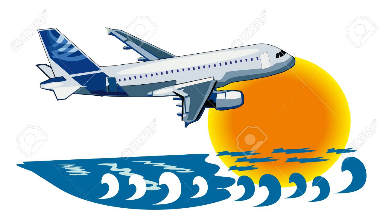 vector background about travel by plane Stock Vector - 14308819
