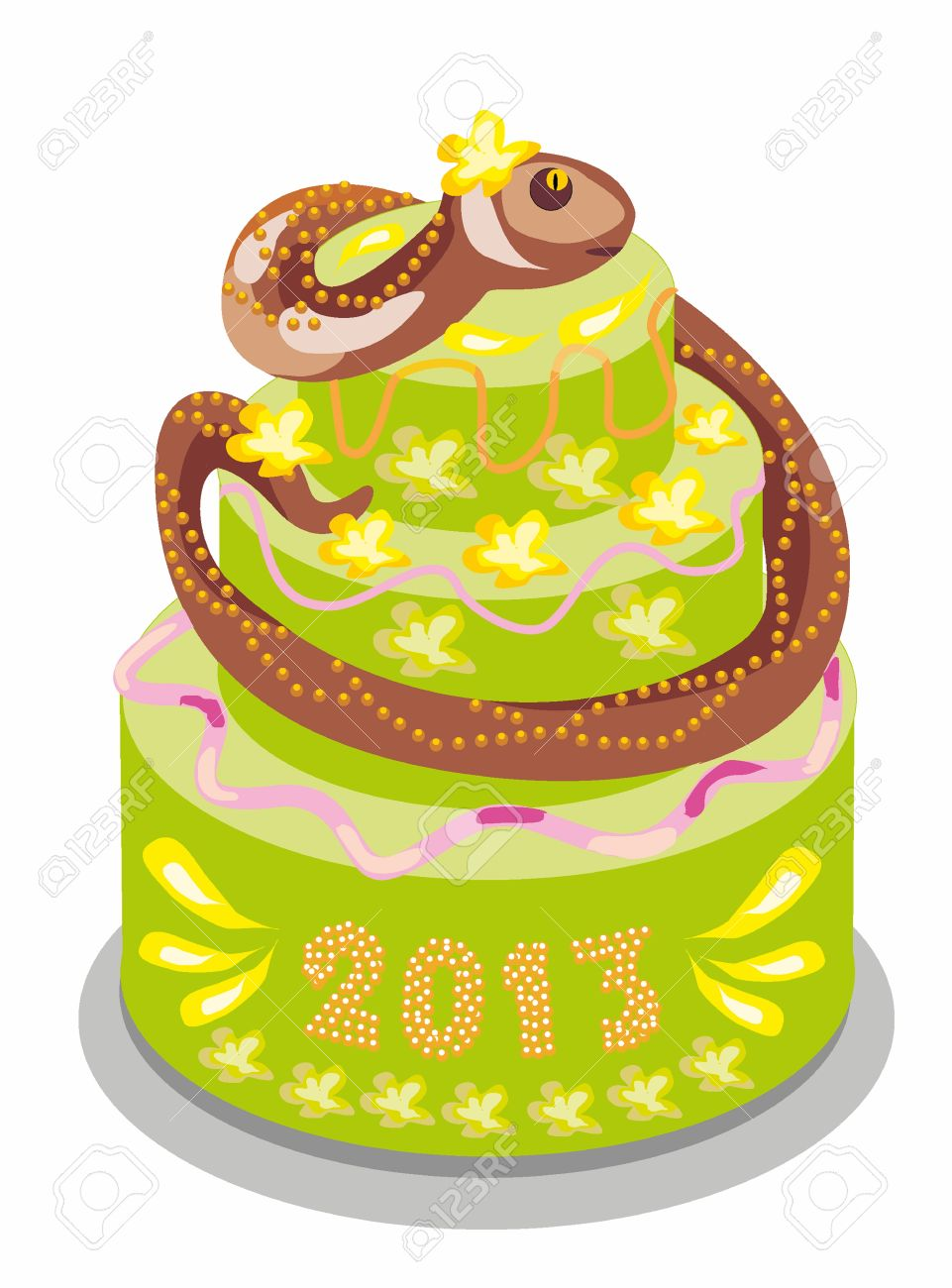 Surprising Chocolate Cake With A Snake Royalty Free Cliparts Vectors And Funny Birthday Cards Online Amentibdeldamsfinfo
