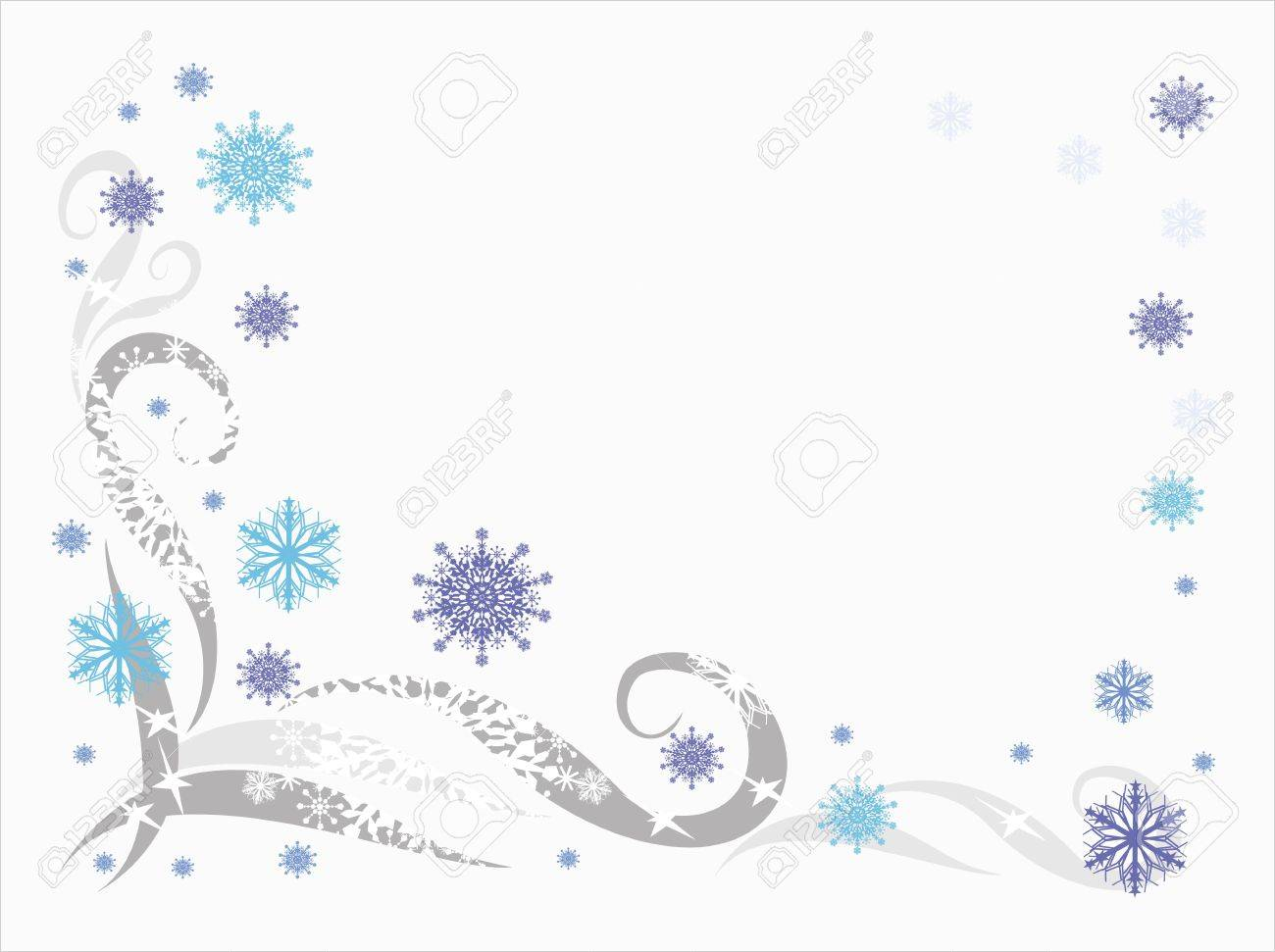 Winter background with snowflakes and patterns Stock Vector - 15477564