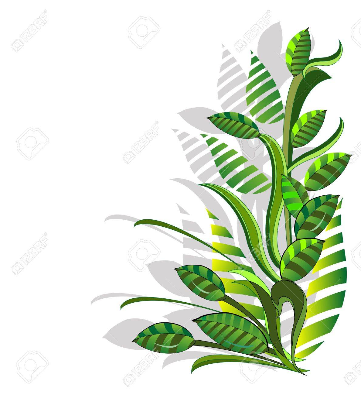 abstract composition from green plants Stock Vector - 18446720