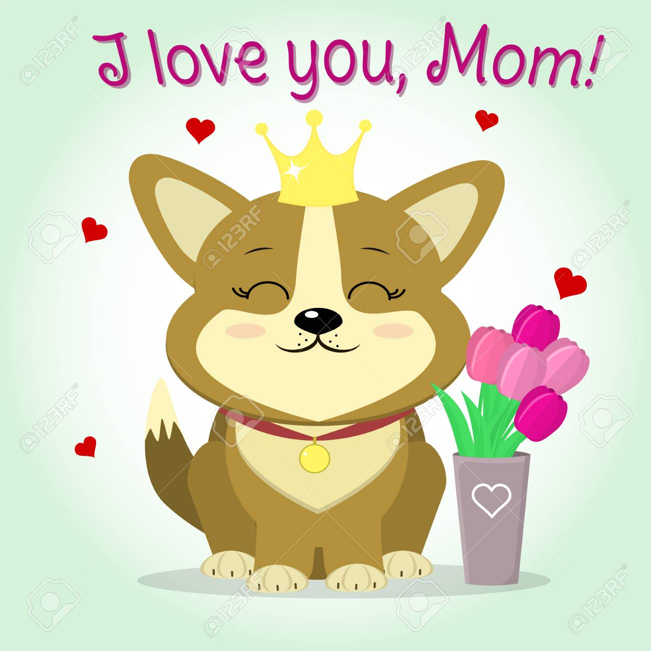 Cute Puppy Corgi With A Crown And Medallion Sitting Next To Royalty Free Cliparts Vectors And Stock Illustration Image 97723434 Provided to youtube by sony music entertainment dog with crown and earring · joe satriani additional creations and bonus tracks ℗ 2004 epic records, a. cute puppy corgi with a crown and medallion sitting next to