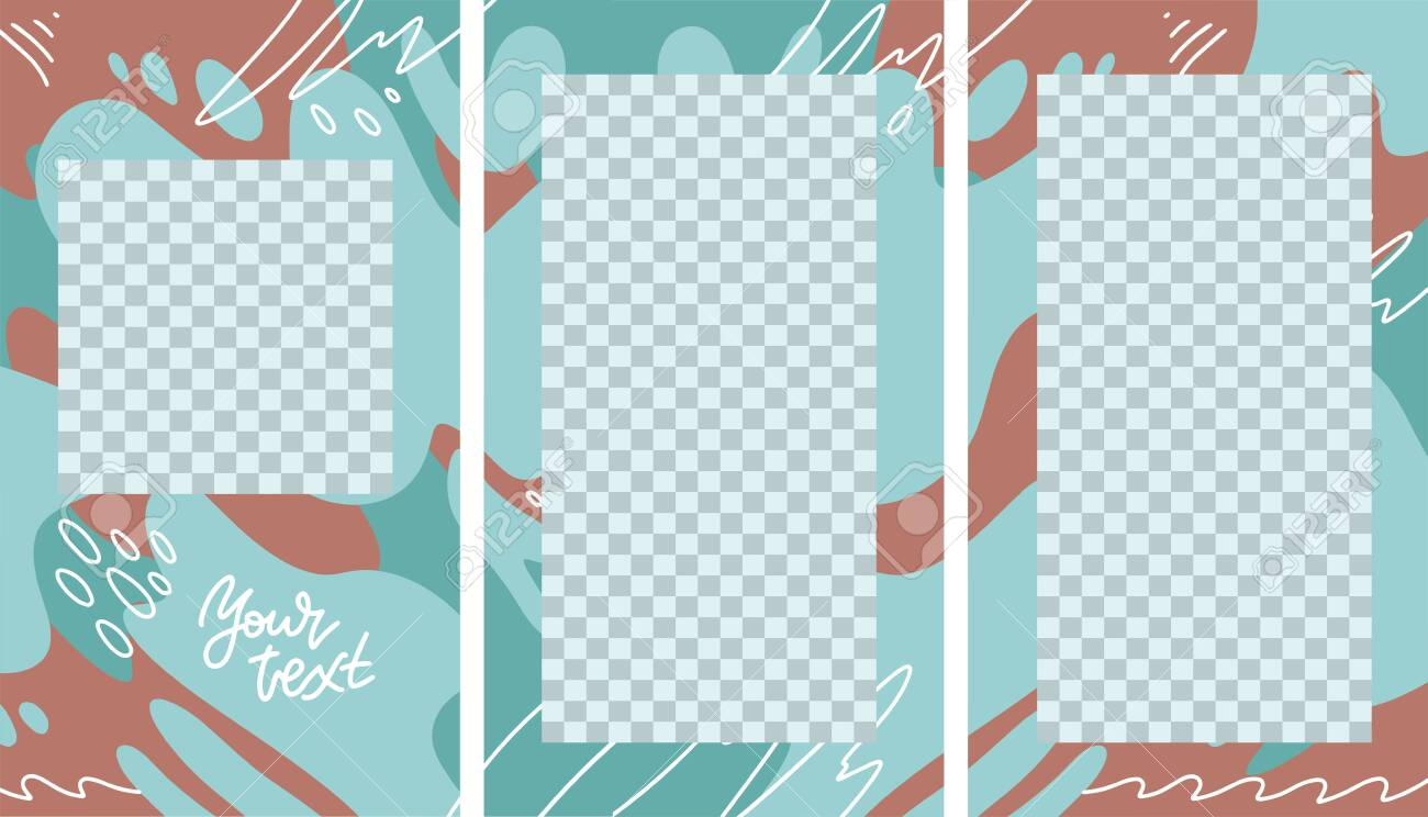 Design Vertical Backgrounds For Social Media Banner Set Of Stories Royalty Free Cliparts Vectors And Stock Illustration Image 148049381