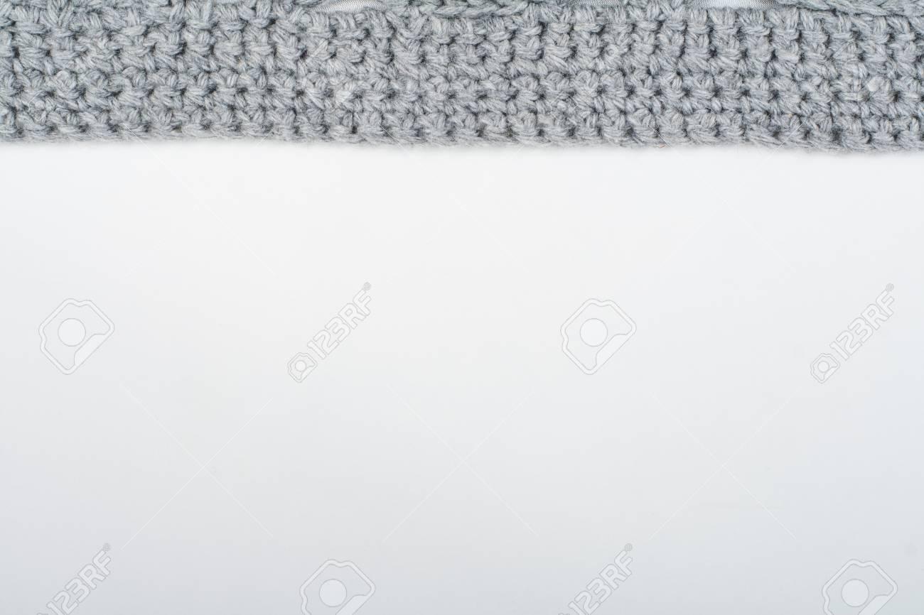 Textura De La Tela Del Suéter O De La Bufanda Que Hace Punto Grande ...