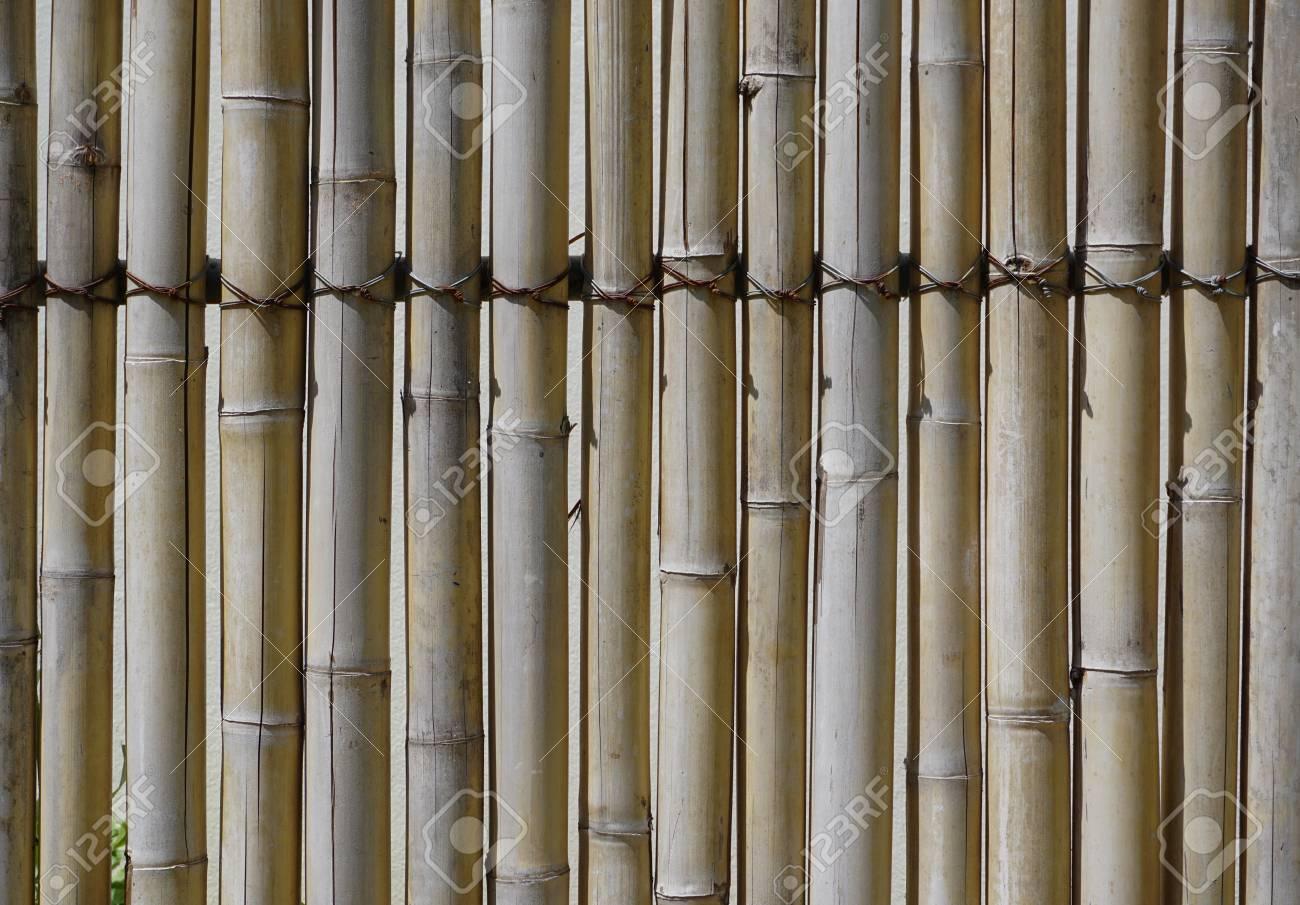 nahaufnahme des bambuszaun in der tropischen resort in krabi