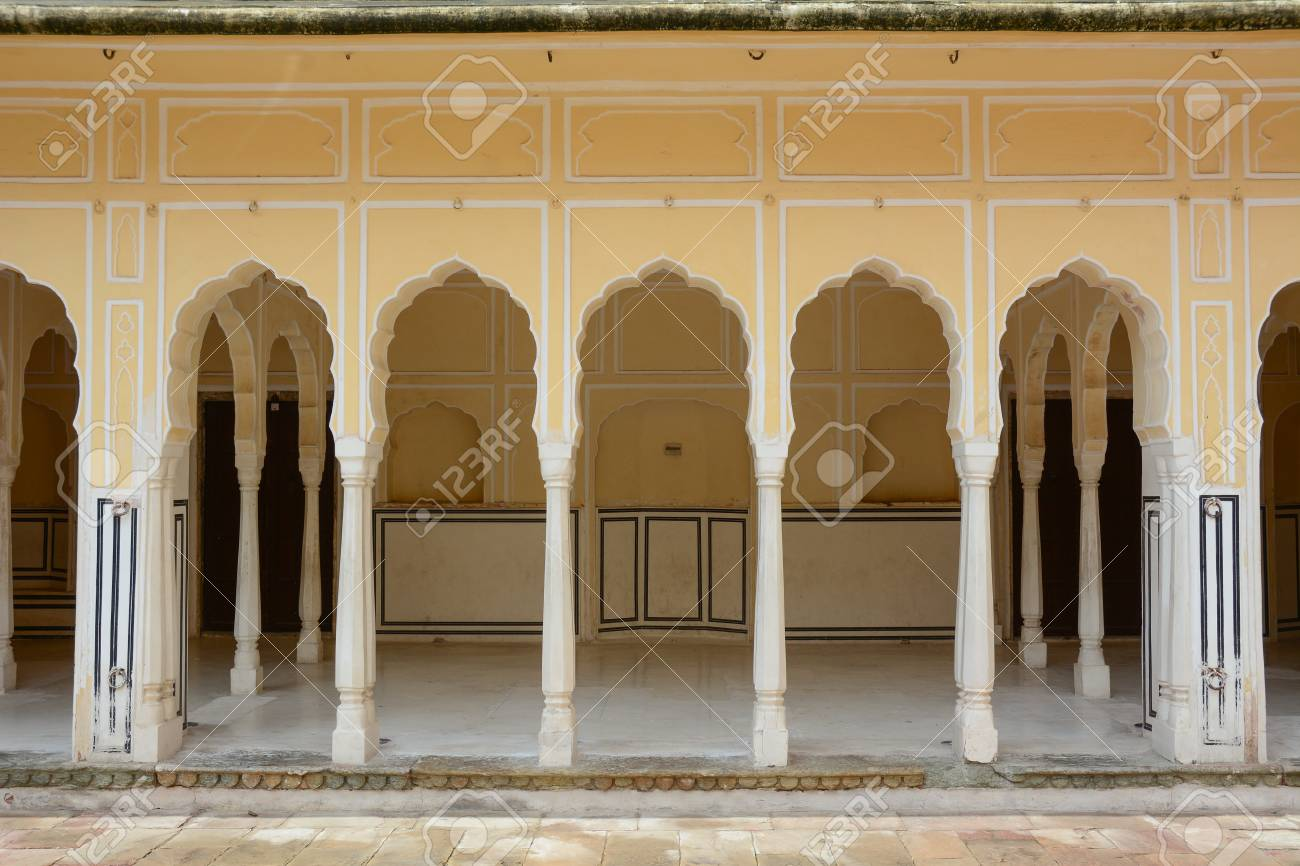 Intérieur De Hawa Mahal Palais Du Vent à Jaipur En Inde Hawa