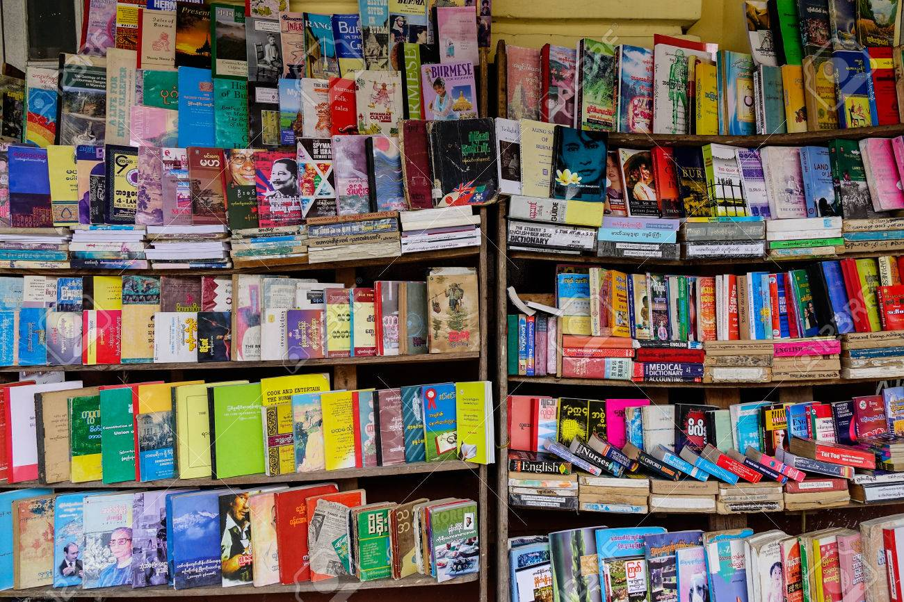 Old Book Store On Street In Yangon Myanmar Is No Longer The Capital Of But It Has Experienced A Huge Increase Tourism Recently