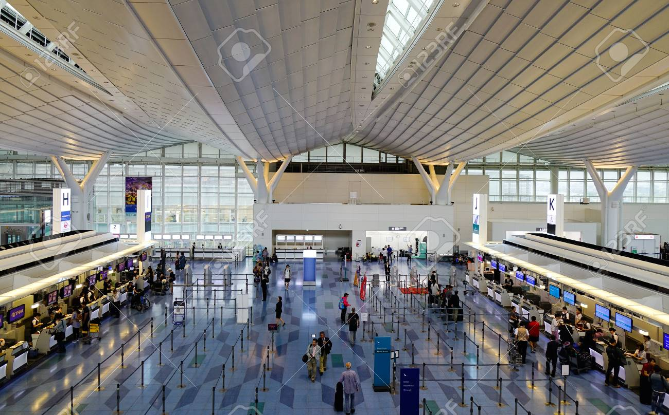 Aeroporto Tokyo : Tokyo giappone maggio sala partenze dell aeroporto