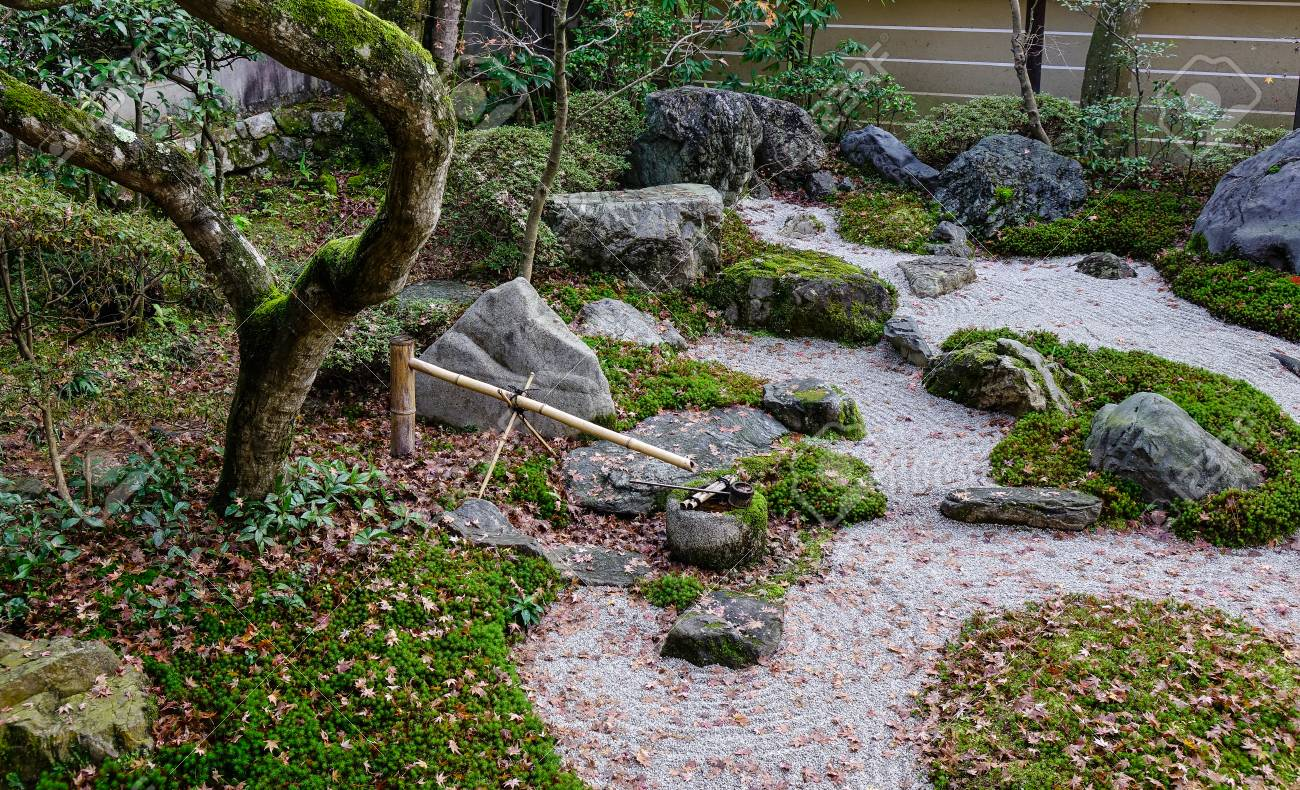Stone Zen Garden Small japanese zen garden meditation stones at ancient shrine small japanese zen garden meditation stones at ancient shrine in kyoto japan stock photo workwithnaturefo