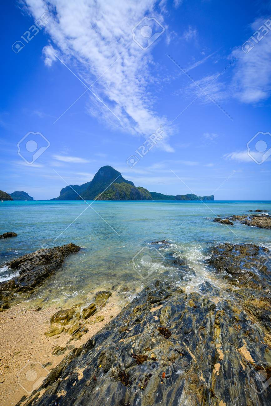 View Of Coron Island At Sunny Day In Palawan Philippines
