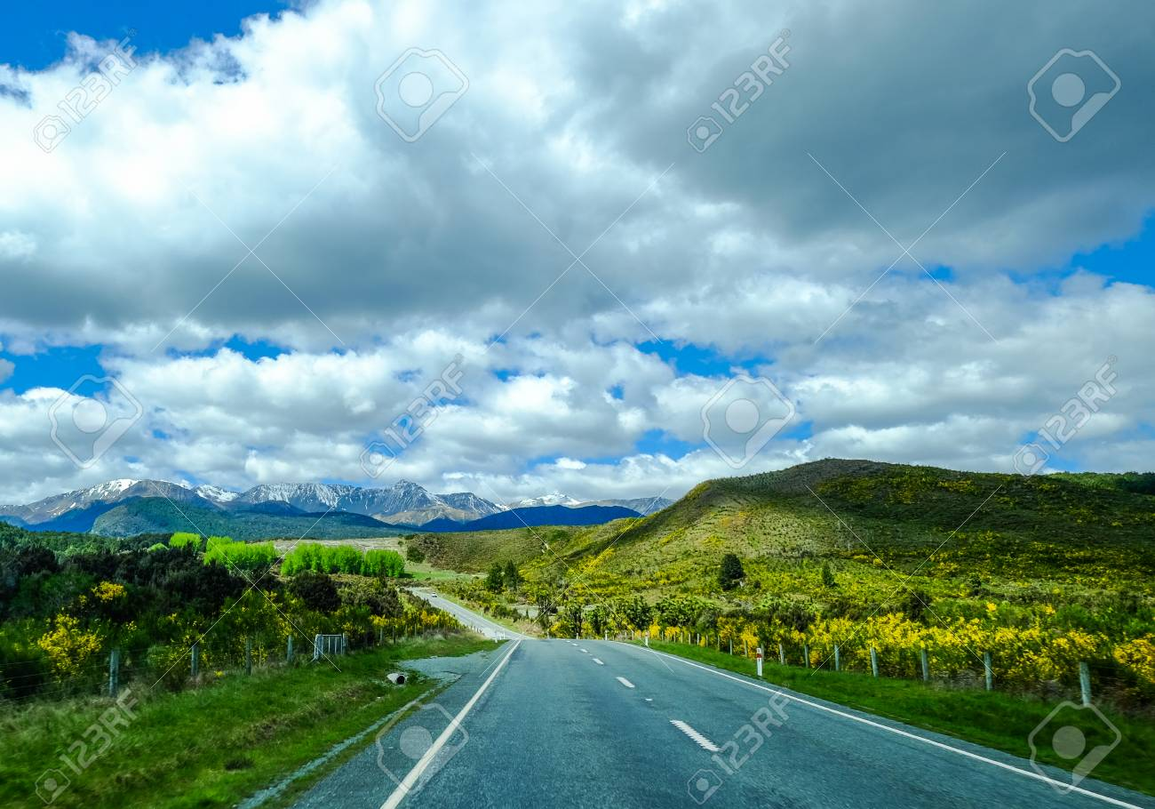 Mountain Road At Summer Day In North Island New Zealand Stock Photo Picture And Royalty Free Image Image 94293291