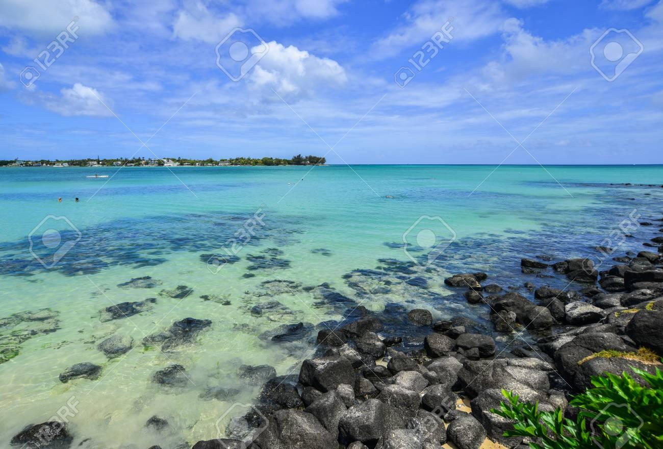 Seascape of Grand Baie, Mauritius  Mauritius is a major tourist