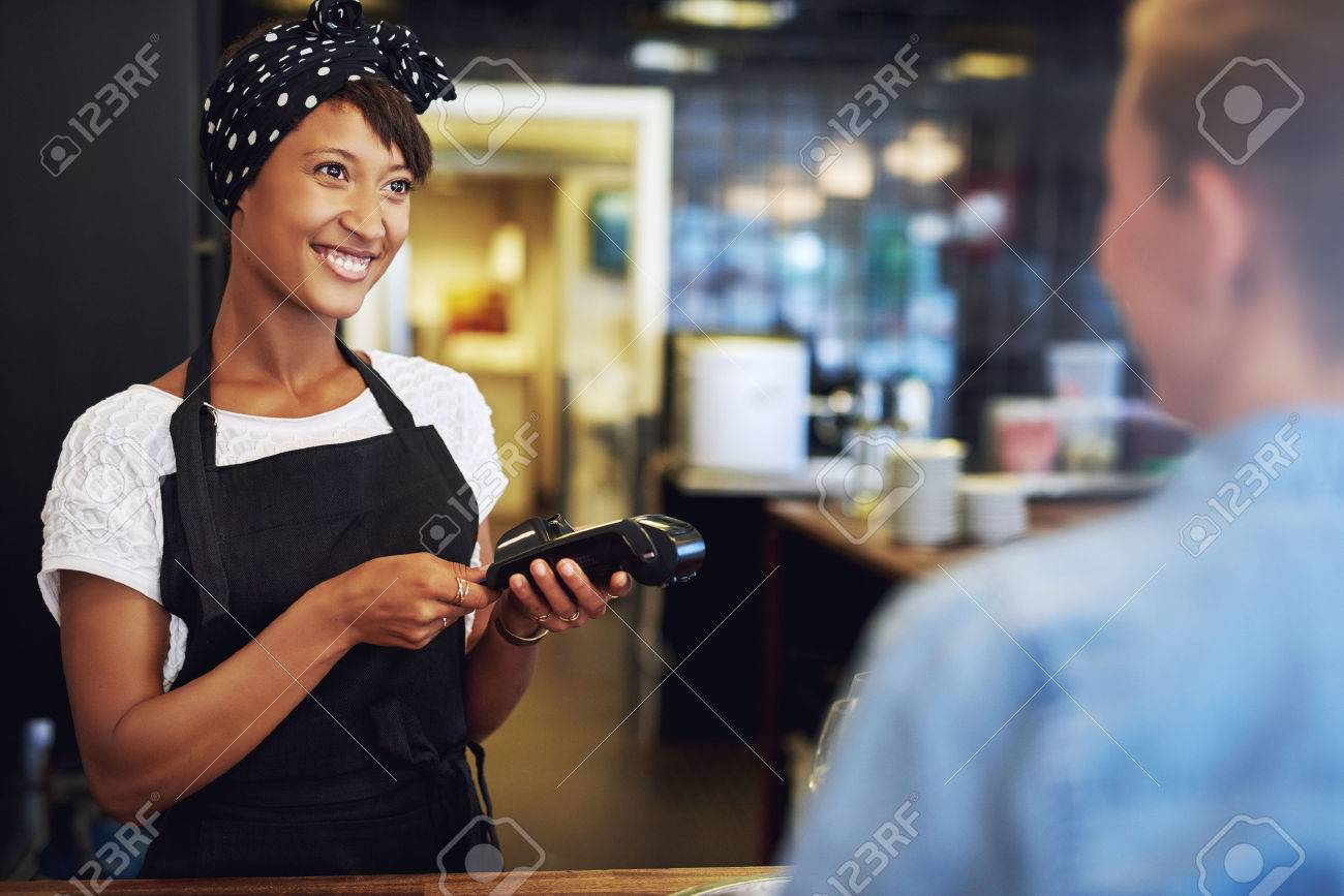 Smiling Attractive African American Small Business Owner Taking ...