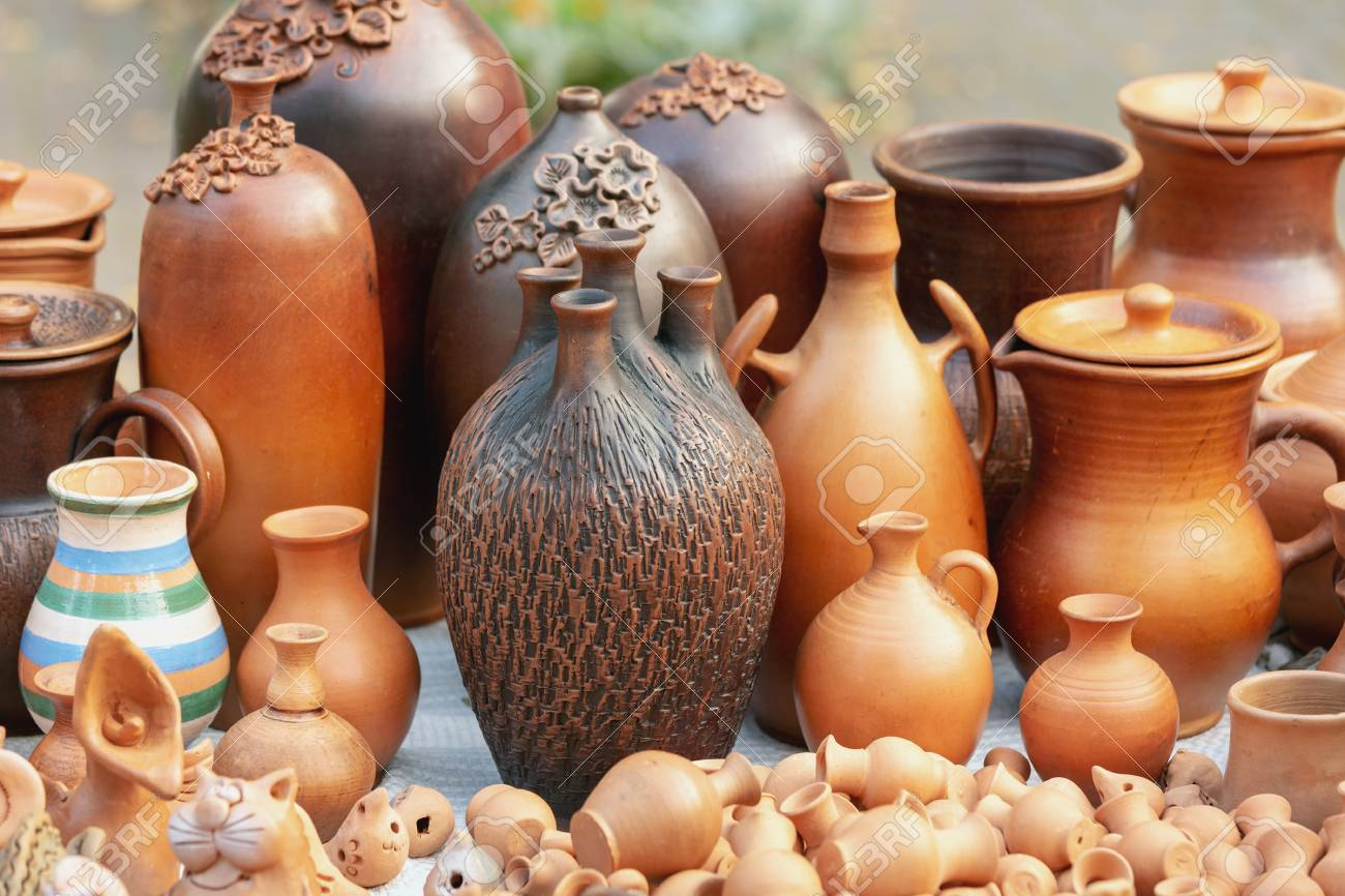 Various Ceramic Products From Clay. Comfortable And Functional ...