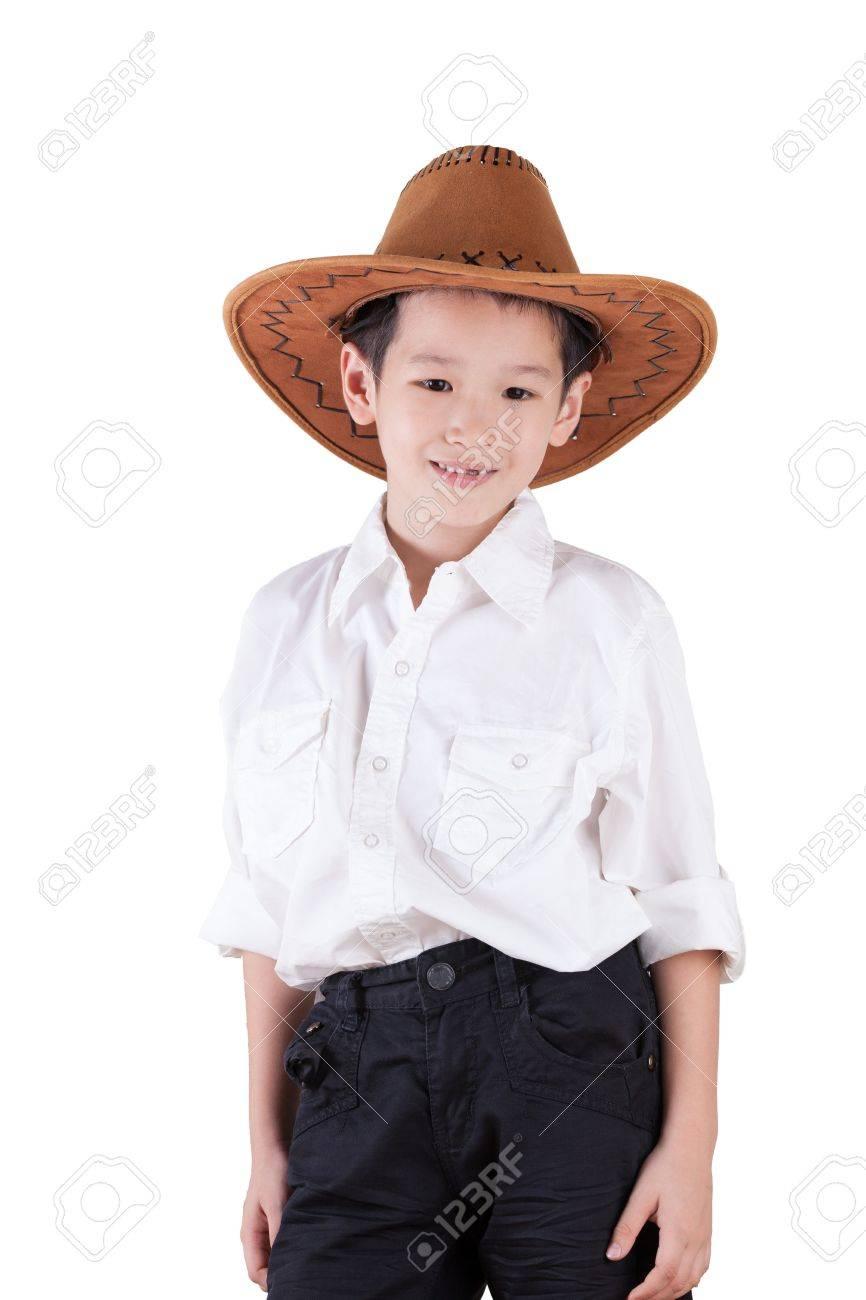 a5acdadb94b1e Asian Boy wearing Cowboy Hat Stock Photo - 13622234