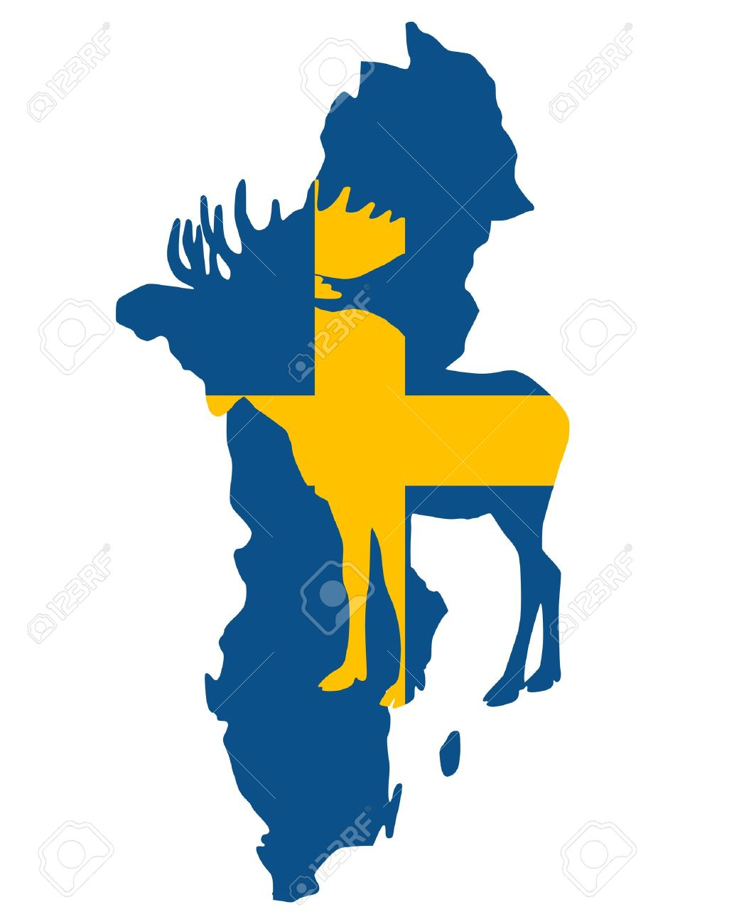 Swedish moose Stock Vector - 8812802