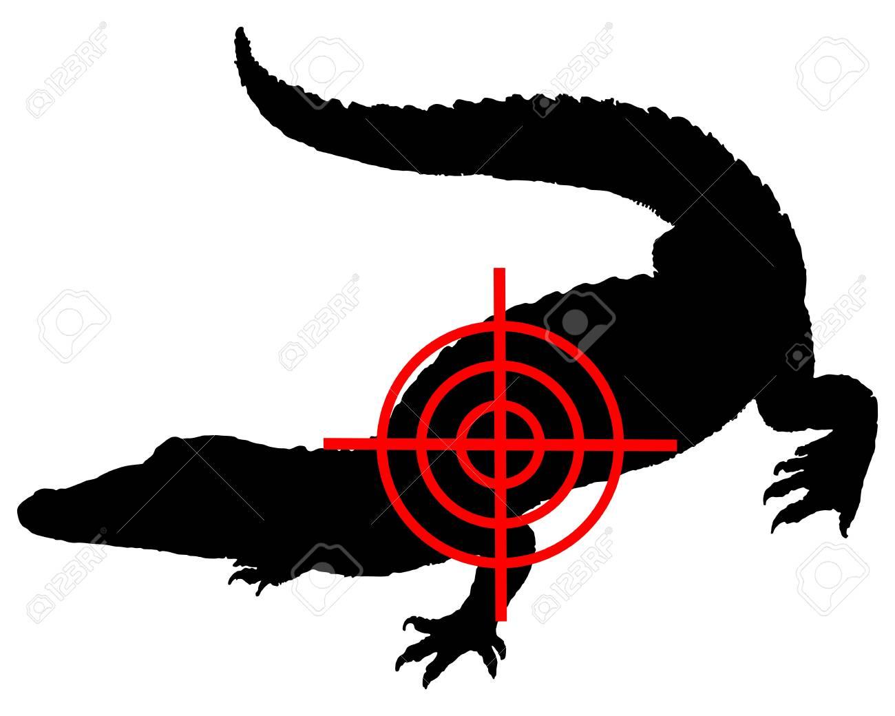 Crocodile crosshair Stock Vector - 9136304