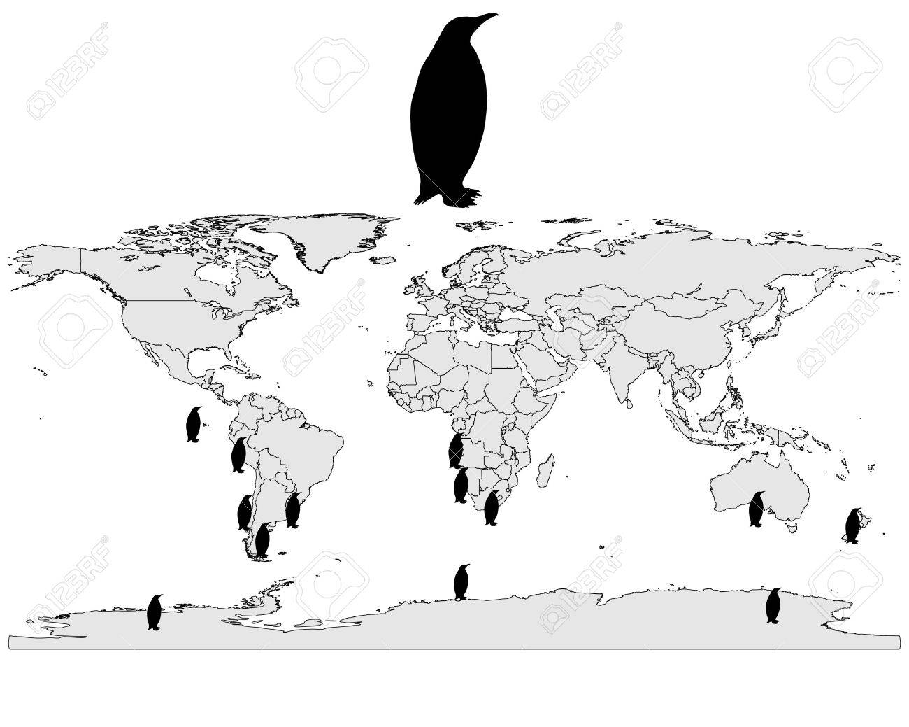 Penguins range Stock Vector - 9287813