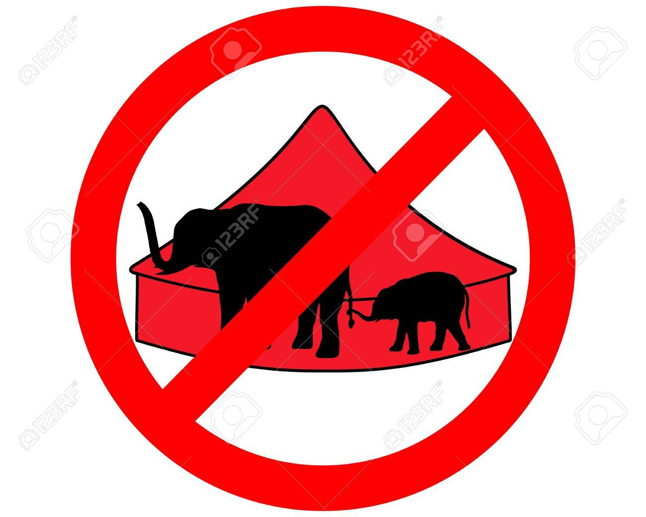 Image result for no circos elefante prohibido