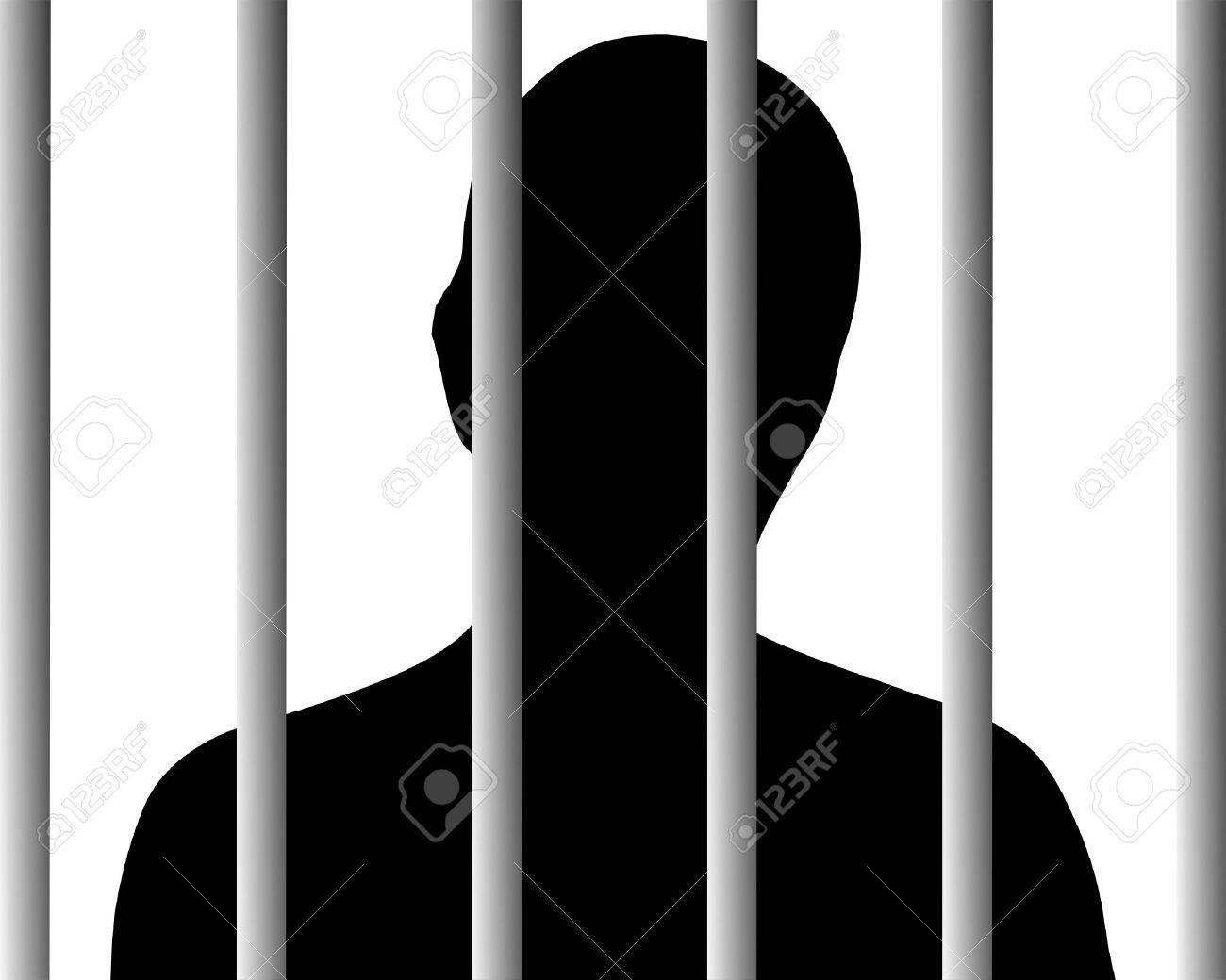 Human behind bars Stock Vector - 9492056