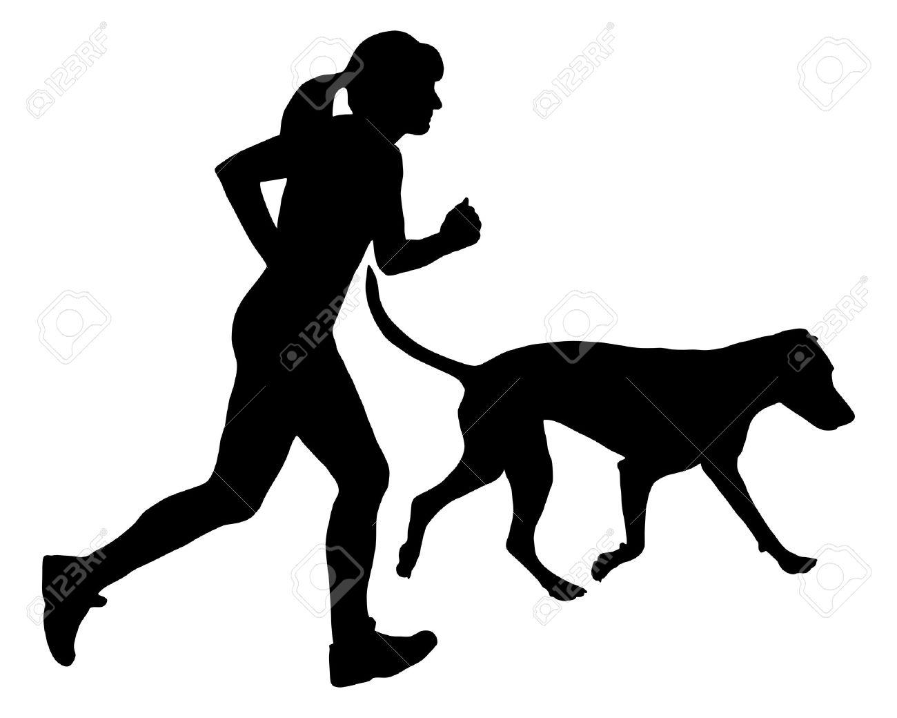 dog running silhouette