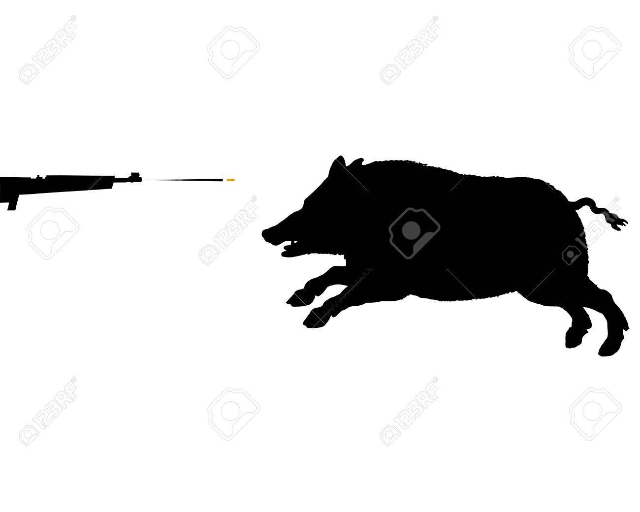 Boar hunting Stock Vector - 12416646