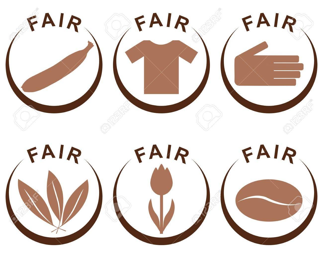 Symbols And Products Of Fair Trade Royalty Free Cliparts, Vectors ...