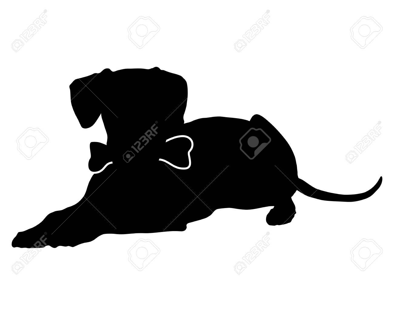 Dog with bone Stock Vector - 27148554
