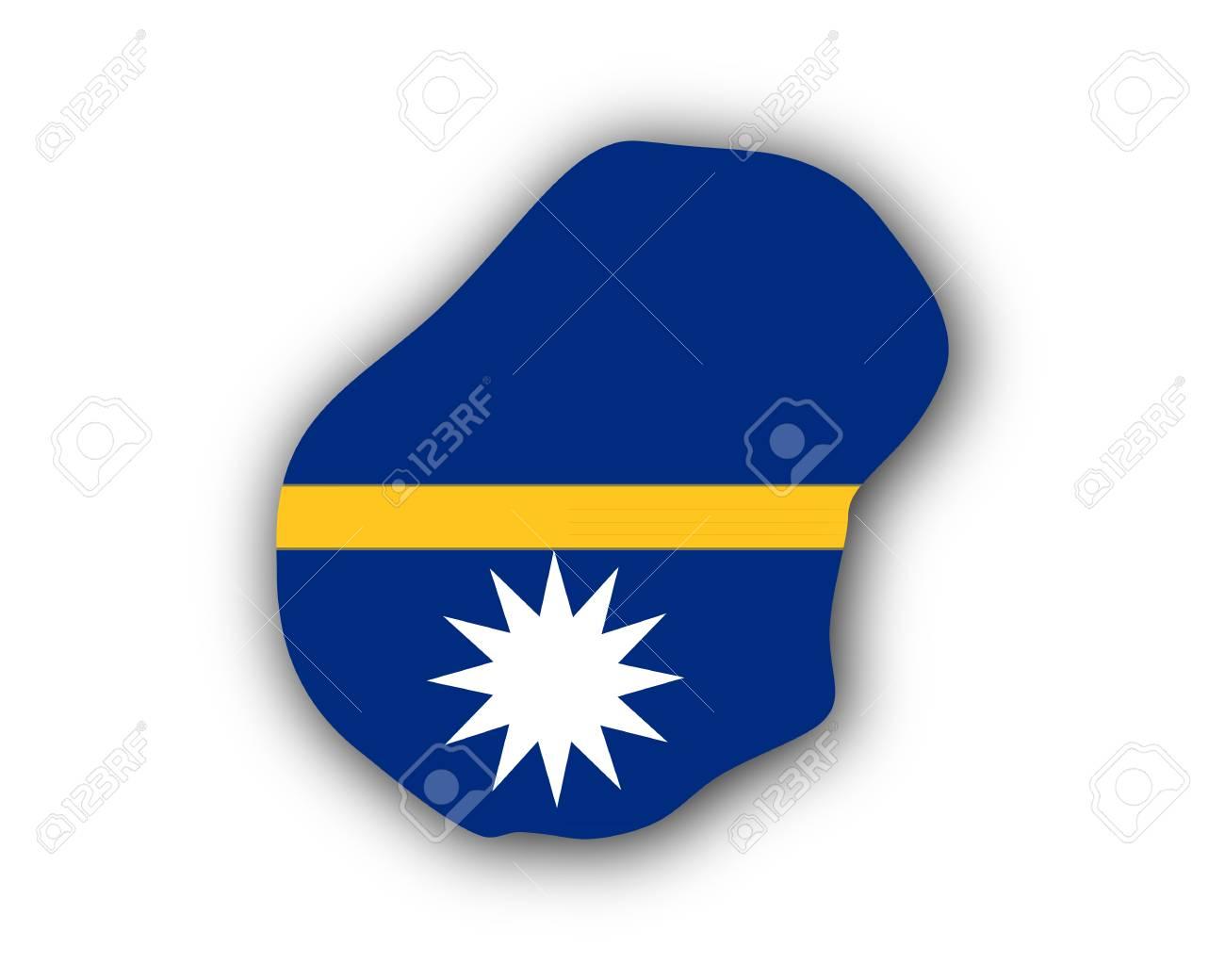 Map And Flag Of Nauru Royalty Free Cliparts Vectors And Stock - Nauru map vector