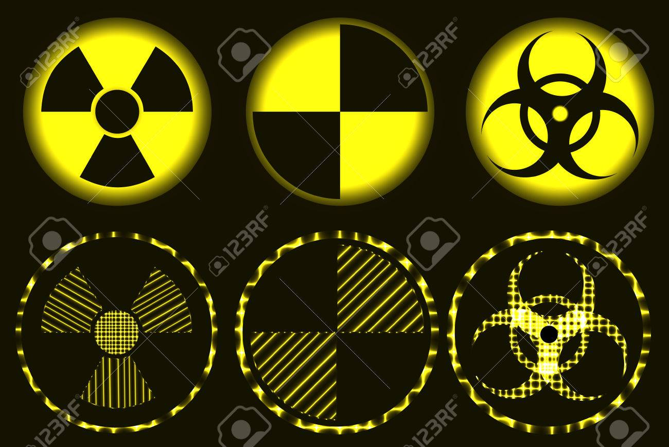 Set of nuclear hazard quarantine and biohazard neon symbols royalty set of nuclear hazard quarantine and biohazard neon symbols stock vector 55433336 biocorpaavc Image collections