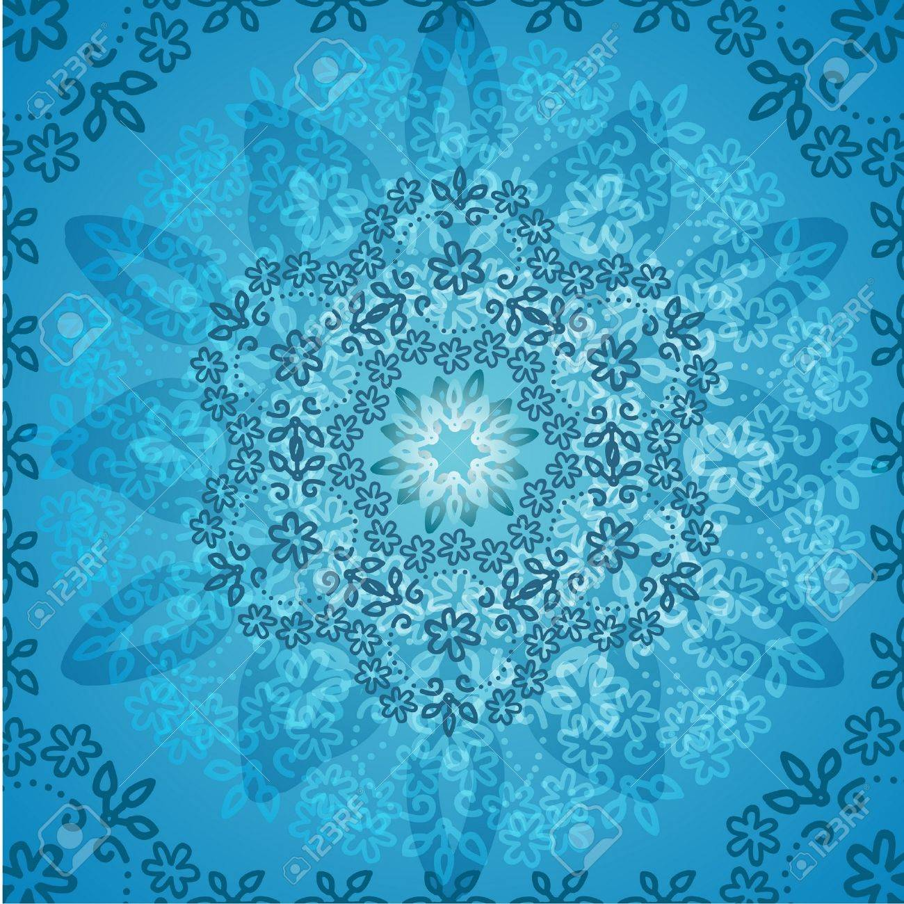 Background Light Blue Flowers Abstract Royalty Free Cliparts