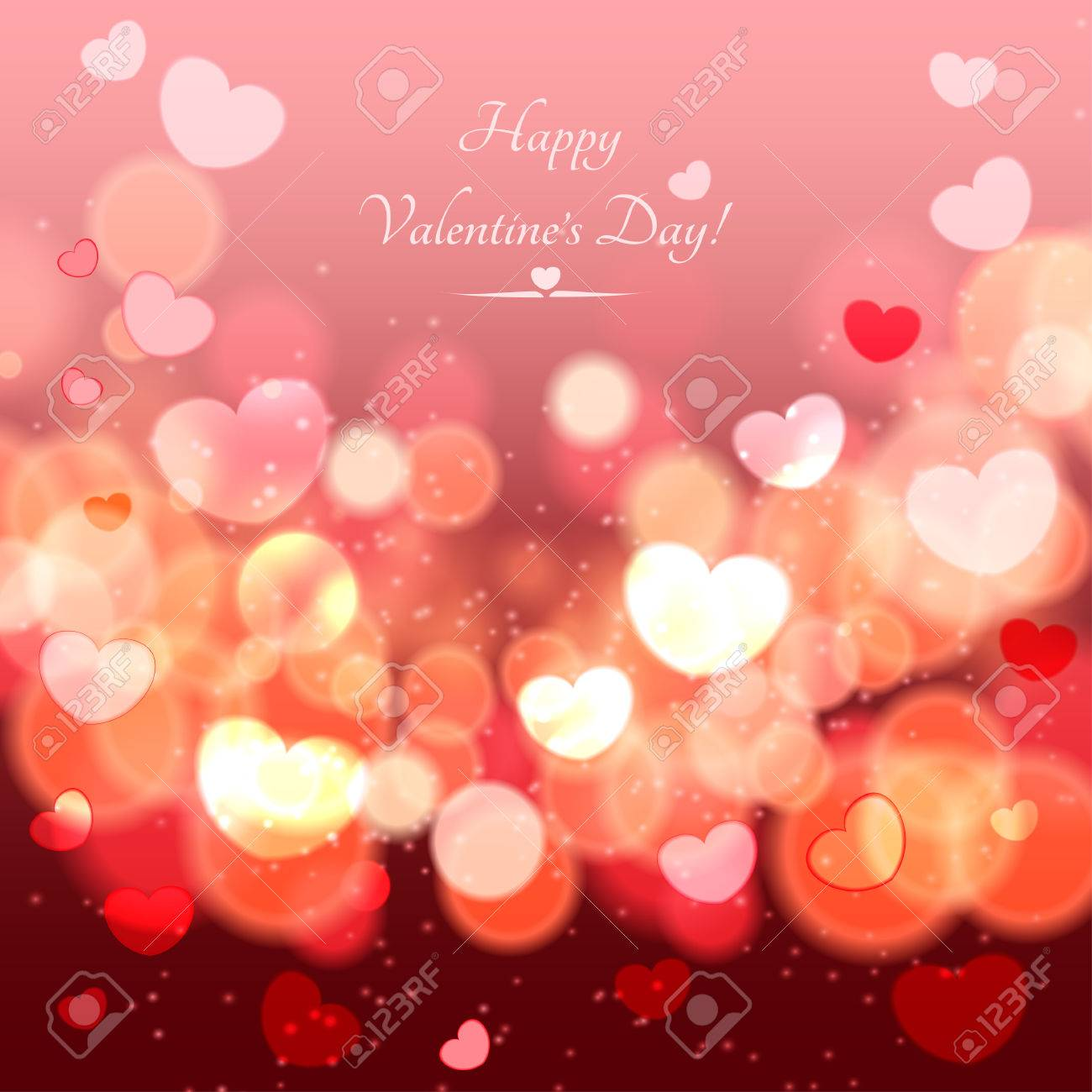 abstract glow soft hearts for valentines day background royalty