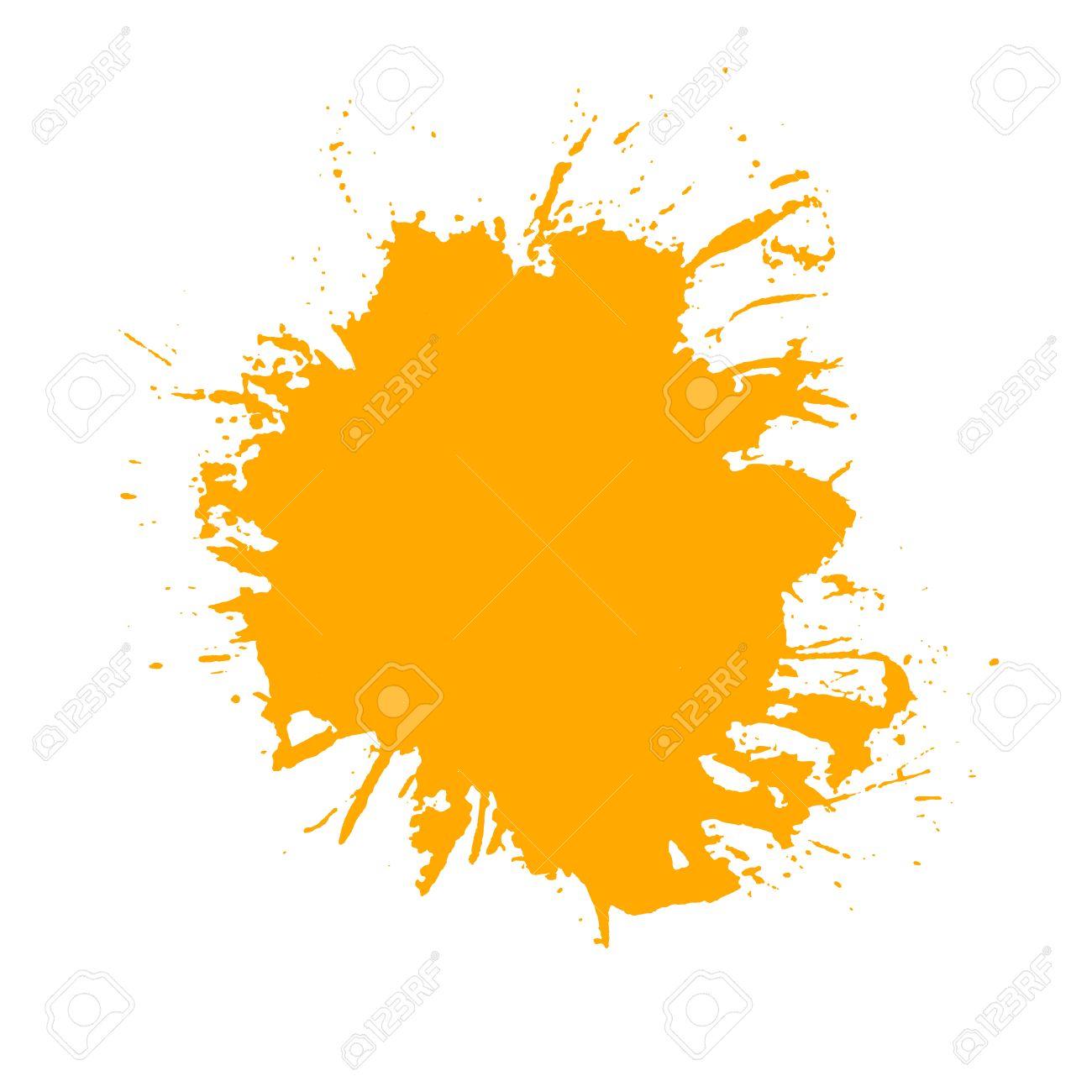 paint splash  Vector of brush strokes  Isolated on white background