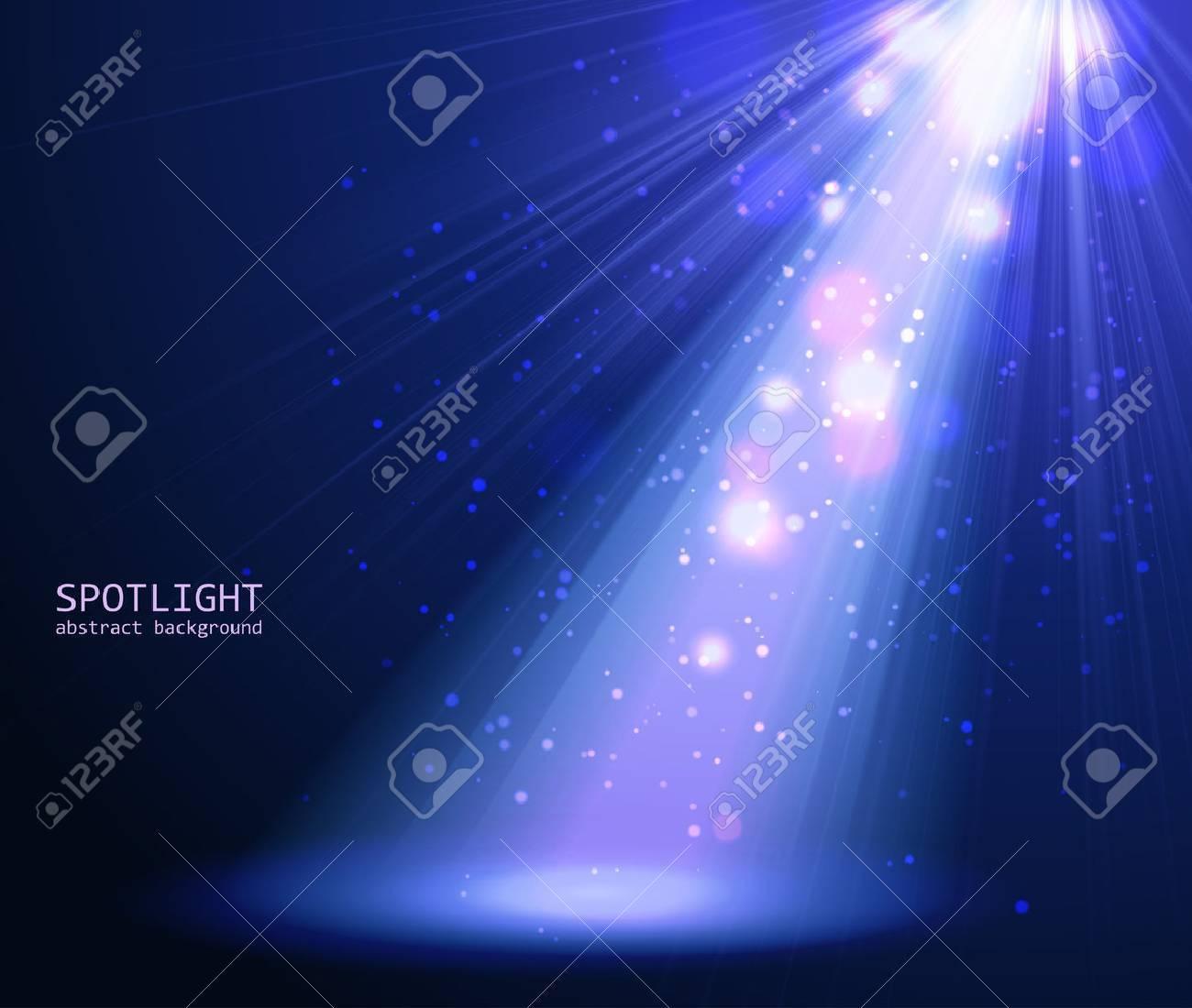 Abstract blue spotlight background. Vector illustration eps 10 - 34172591