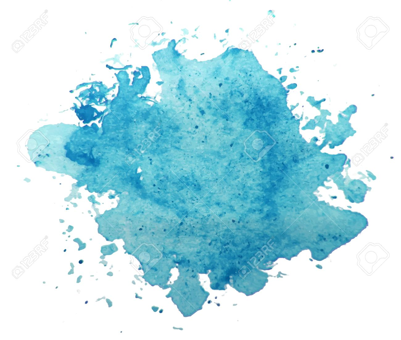 abstract blue watercolor background vector royalty free cliparts
