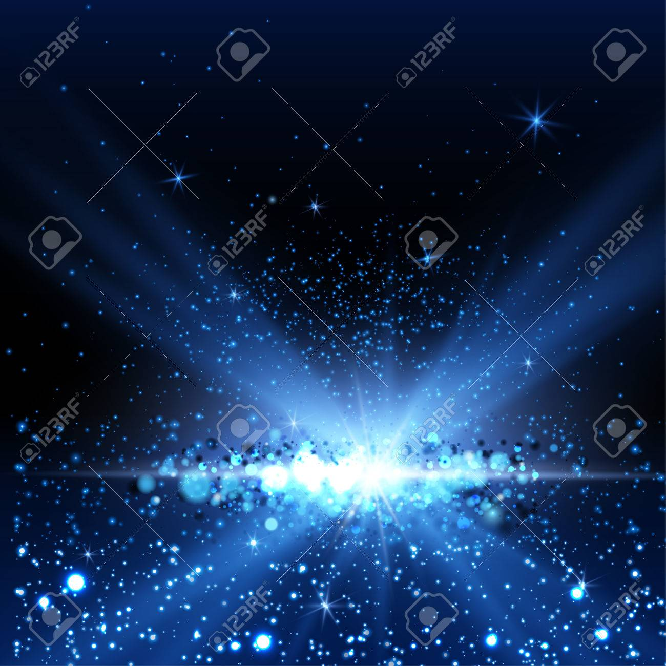 Blue spotlight background. Vector illustration - 37267185