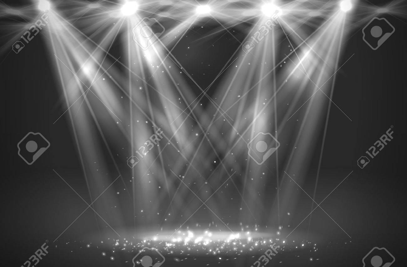 Spotlight vintage background. Vector illustration - 37557690