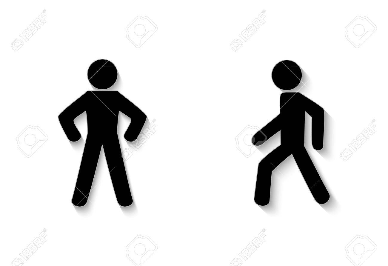 pedestrian trafficstay and walk. Illustration on white background - 37557695