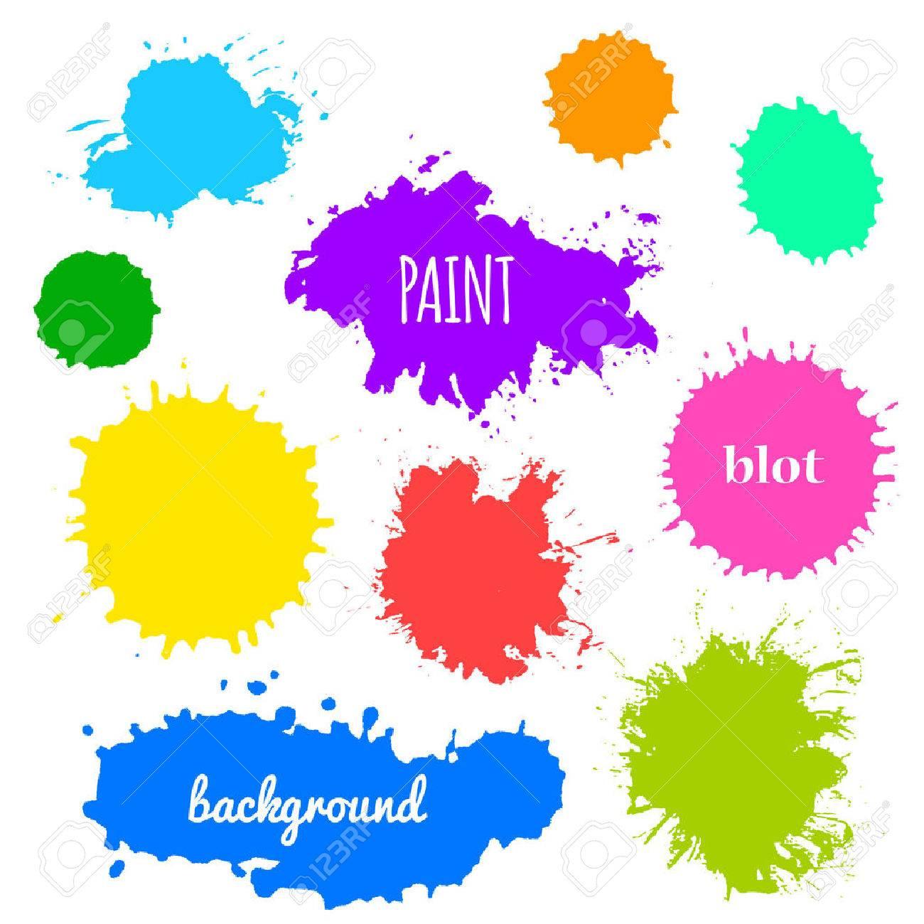Collection of paint splash - 48102113