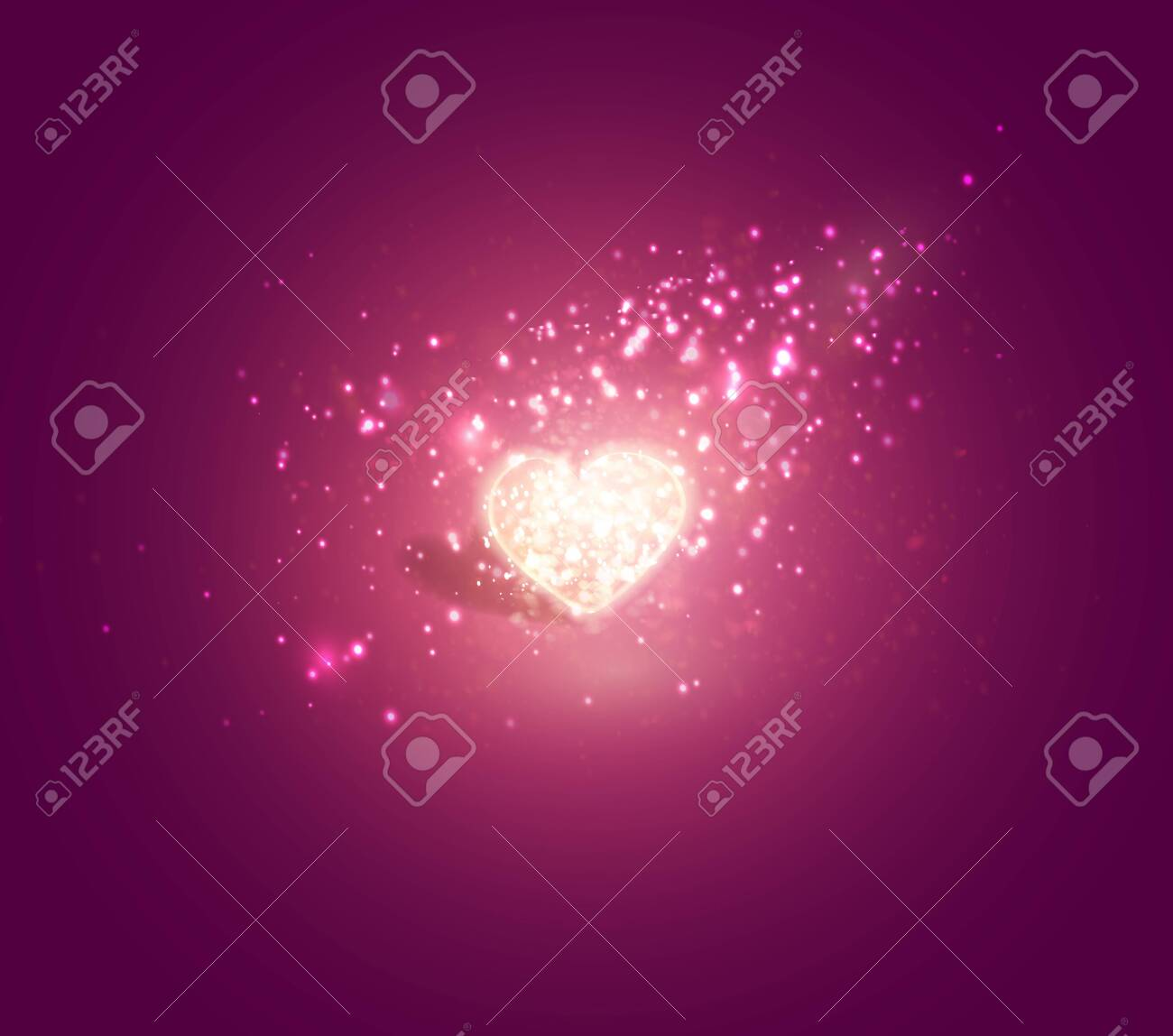 Shiny heart. Soft beautiful background for Valentines Day design vector. - 123029918