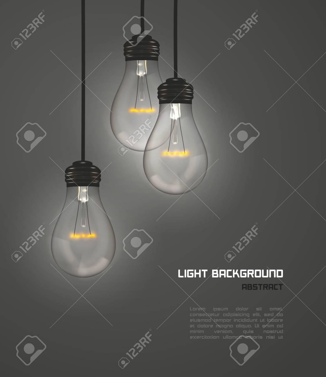Creative design of nature lamps gray, vector - 123029809